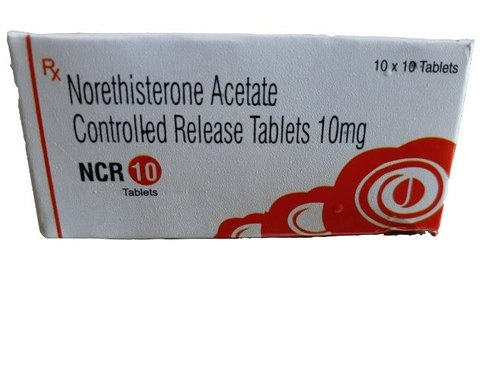 Norethisterone acetate controlled release tables